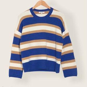 Madewell Belmore Stripe Crop Pullover Sweater